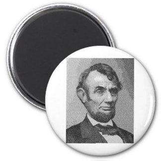 President Lincoln Render w/the Gettysburg Address 2 Inch Round Magnet