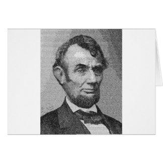 President Lincoln Render w/the Gettysburg Address Card