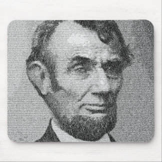 President Lincoln Render w/the Gettysburg Address Mouse Pad