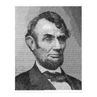 President Lincoln Render w/the Gettysburg Address Postcard