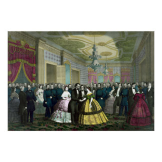 President Lincoln s Last Reception Poster