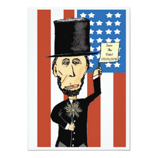 "President Lincoln Save The Date Matte 5"" x 7"", Card"