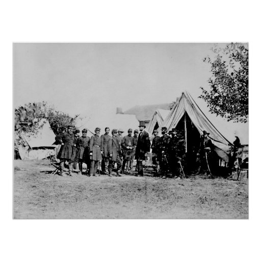 President Lincoln Visiting the Battlefield Poster