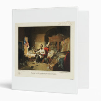 President Lincoln Writing Proclamation of Freedom 3 Ring Binder