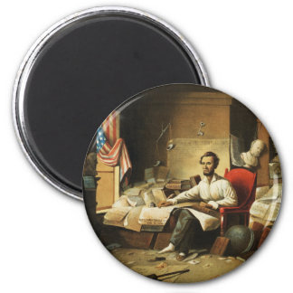 President Lincoln Writing Proclamation of Freedom Refrigerator Magnets