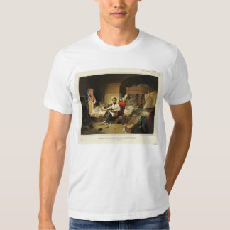 President Lincoln Writing Proclamation of Freedom T-shirt