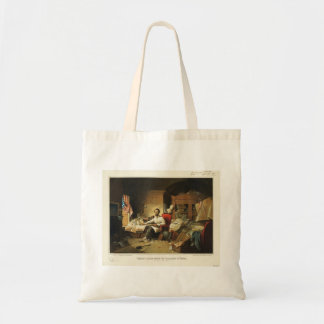 President Lincoln Writing Proclamation of Freedom Tote Bag