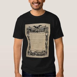 President Lincoln's 1863 Emancipation Proclamation T-shirt