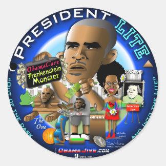President LITE Classic Round Sticker