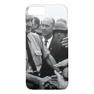 President Lyndon B. Johnson greets American troops iPhone 8/7 Case