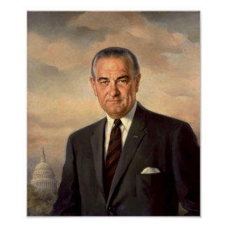 President Lyndon Johnson Painting Poster