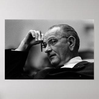 President Lyndon Johnson Poster