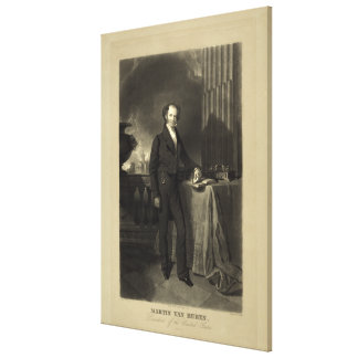 President Martin Van Buren by Henry Inman Canvas Print