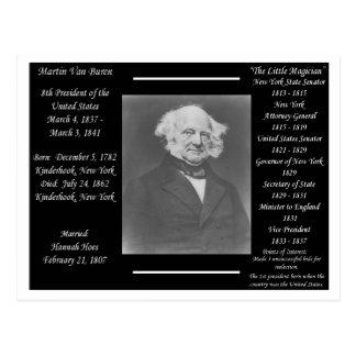 President Martin Van Buren Postcard