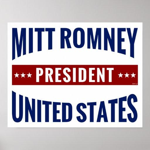 President Mitt Romney Print