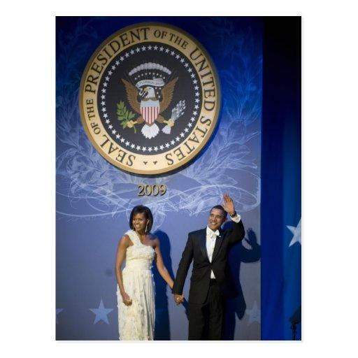 President & Mrs. Obama Post Card