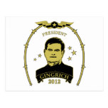 President Newt Gingrich 2012 Postcards