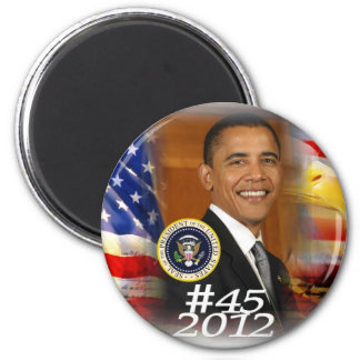 President Obama 2012 Campaign Launch 2 Inch Round Magnet