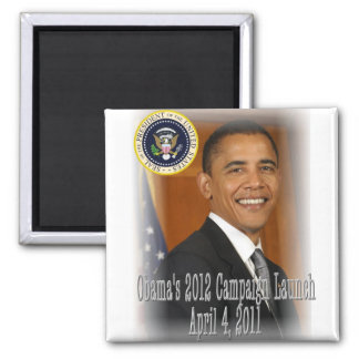 President Obama 2012 Campaign Launch 2 Inch Square Magnet