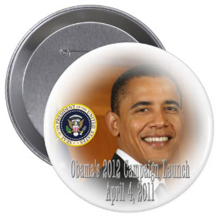President Obama 2012 Campaign Launch Pin