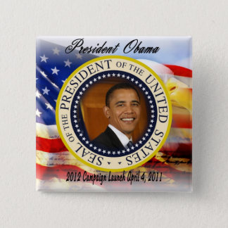 President Obama 2012 Campaign Launch Pinback Button