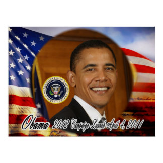 President Obama 2012 Campaign Launch Poster