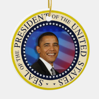 President Obama 2012 Re-election Ceramic Ornament