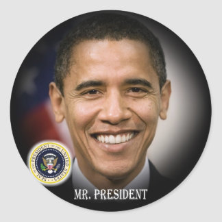 President Obama 2012 Re-election Classic Round Sticker