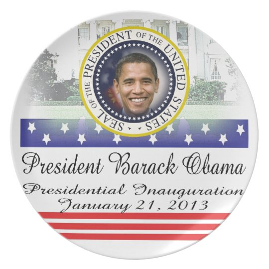 President Obama 2012 Re-election Dinner Plate