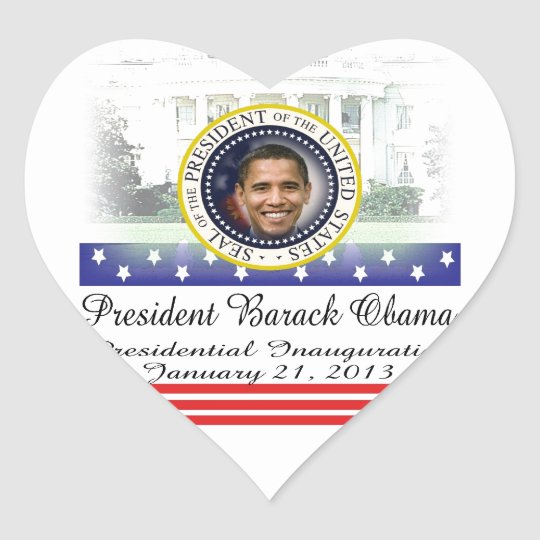 President Obama 2012 Re-election Heart Sticker