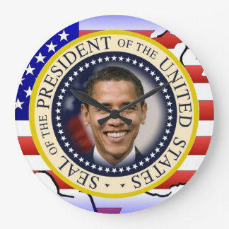 President Obama 2012 Re-election Large Clock