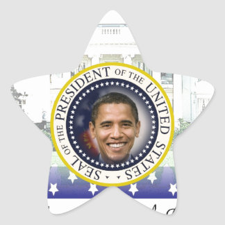 President Obama 2012 Re-election Star Stickers