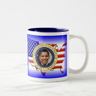 PRESIDENT OBAMA 2013 Inauguration Two-Tone Coffee Mug