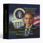 President Obama 2nd Inauguration 3 Ring Binder