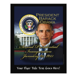 President Obama 2nd Inauguration Flyer