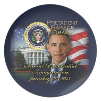 President Obama 2nd Inauguration Melamine Plate
