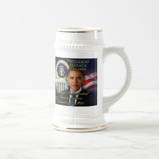 President Obama 2nd Inauguration 18 Oz Beer Stein