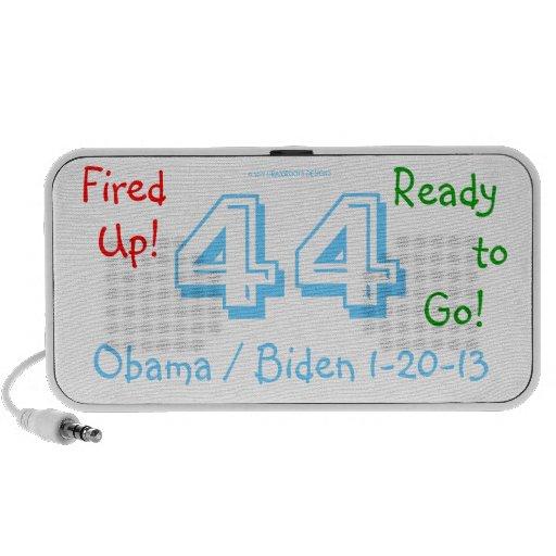 President Obama 44 Biden 3D Fired Up! Ready to GO! Mini Speaker