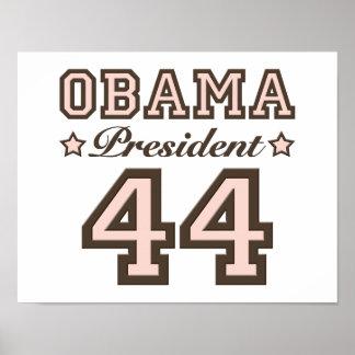 President Obama 44 Poster