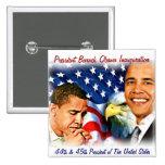 President  Obama 45th,Inauguration _Button 2 Inch Square Button