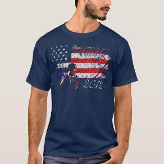 President Obama American Flag 2012 T-Shirt