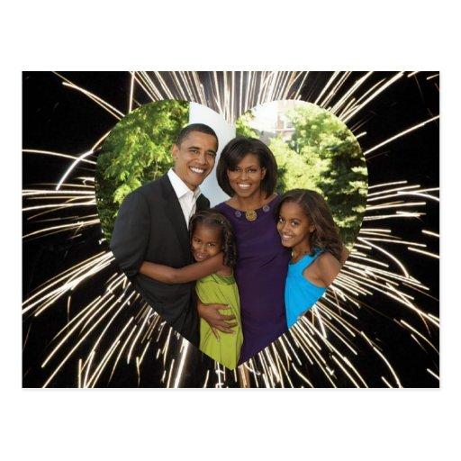 President Obama America's First Family Photo Postcard