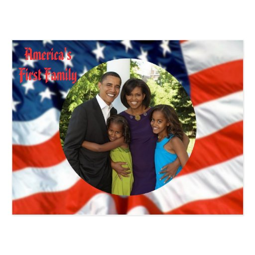 President Obama America's First Family Postcard