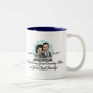 President Obama and First Family Gear Two-Tone Coffee Mug