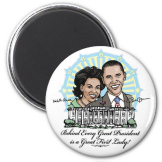 President Obama and First Lady Gear Fridge Magnet