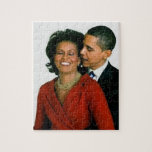 """PRESIDENT OBAMA AND FIRST LADY-PUZZLE JIGSAW PUZZLE<br><div class=""""desc"""">PRESIDENT OBAMA AND FIRST LADY-PUZZLE</div>"""