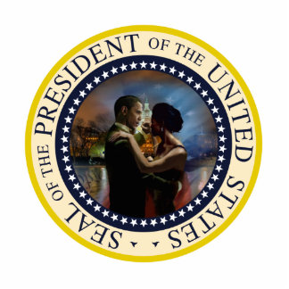 President Obama and Michelle Victory Dance Statuette