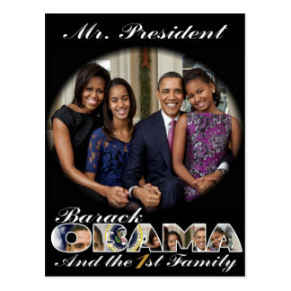 PRESIDENT OBAMA and THE FIRST FAMILY Postcard