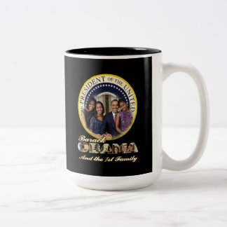 President Obama and the First Family Two-Tone Coffee Mug