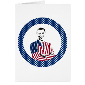 President Obama and U.S. Flag Design Greeting Card
